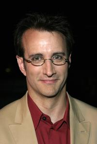 Bronson Pinchot poses backstage during