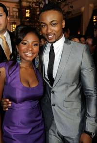 Naturi Naughton and Collins Pennie at the premiere of