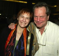 Amanda Plummer and Terry Gilliam at the premiere of