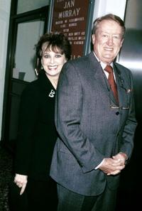 Suzanne Pleshette and Tom Poston at the Friars Club tribute to actor/comedian Jan Murray.
