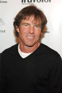 Dennis Quaid arrives at the Conde Nast Traveler hot list party.