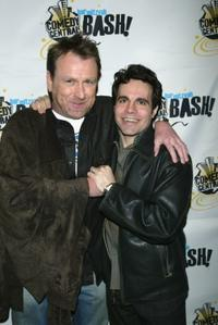 Colin Quinn and Mario Cantone at the Comedy Central Bar Mitzvah Bash.
