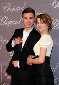 David Kross and Lea Seydoux at the Chopard Trophy during the 62nd International Cannes Film Festival.