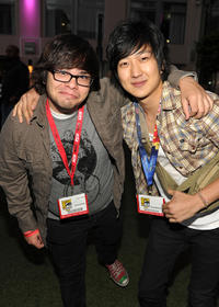 Charlie Saxton and Tim Jo at the Marvel Vs. Capcom party during the Comic-Con 2010.