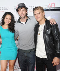 Alyssa Diaz, Joel Moore and Chris Zylka at the red carpet of the premiere of
