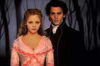 Christina Ricci as Katrina Van Tassel and Johnny Depp as Ichabod Crane in ``Sleepy Hollow.''
