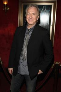 Alan Rickman at the New York premiere of