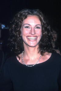"Julia Roberts at the ""Notting Hill"" premiere in New York City."