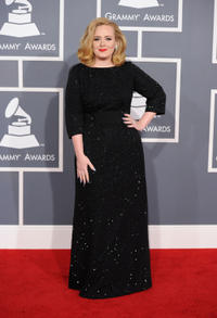 Adele at the 54th Annual GRAMMY Awards in California.