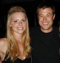 Collette Wolfe and director Jody Hill at the pre-party screening of