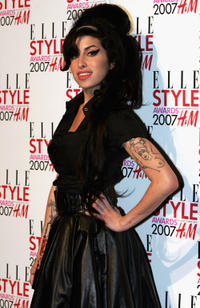 Amy Winehouse at the ELLE Style Awards 2007 in London.