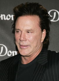 Mickey Rourke at the International Launch of Dom Perignon Rose Vintage 1996 Champagne by Karl Lagerfeld.