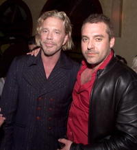 Mickey Rourke and Tom Sizemore at the post-premiere party for