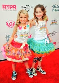 Emily Grace Reaves and Noah Cyrus at the launch of Lollipops and Rainbows Foundation.