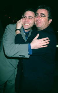 Saul Rubinek and companion at the premiere of