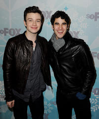 Chris Colfer and Darren Criss at the Fox All-Star party in California.