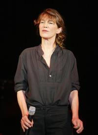Jane Birkin at the Shawa Cultural Center in Gaza City.