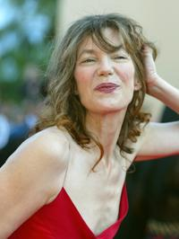 Jane Birkin at the 55th International Cannes Film Festival.