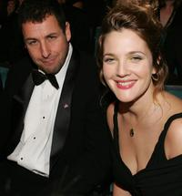 Adam Sandler and Drew Barrymore at the 31st Annual People's Choice Awards.