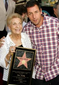 Adam Sandler and Mary Anne Farley, at the Hollywood Walk of Fame Star ceremony.