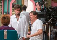 Adam Sandler and Director Dennis Dugan on the set of