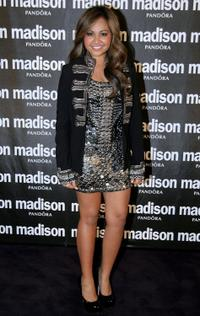 Jessica Mauboy at the Madison Sex, Frocks and Rock'N'Roll dinner.