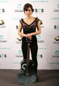 Missy Higgins at the Australian leg of the Live Earth series of concerts.