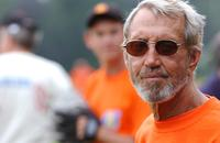 Roy Scheider at the 56th Annual Artist and Writers Softball Game in Easthampton, New York.