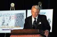 Roy Scheider speaks at the Stella by Starlight gala at the Pierre hotel.