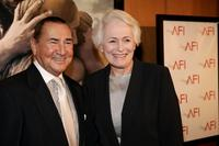 August Schellenberg and Jean Firstenberg at the premiere of