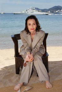 Kristin Scott Thomas at the 56th Cannes Film Festival in Cannes, France.