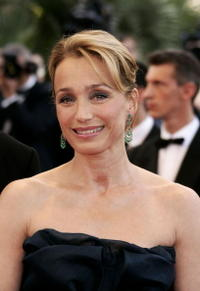 """Kristin Scott Thomas at a screening of """"Cache"""" in Cannes, France."""
