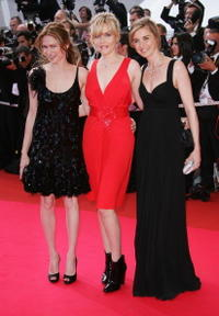 Anne Consigny, Emmanuelle Seigner and Marie-Jose Croze at the 60th International Cannes Film Festival.