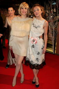 Emmanuelle Seigner and Sylvie Testud at the premiere of