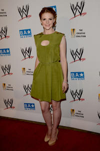 Ashley Bell at the WWE SummerSlam VIP Kick-Off party in California.