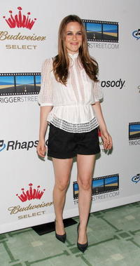 Alicia Silverstone at the re-launch of Triggerstreet.com.