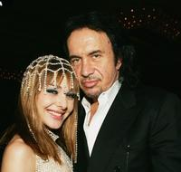 Cytherea and Gene Simmons at the 2005 AVN (Adult Video News) Awards.