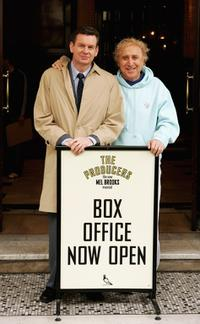 John Gordon Sinclair and Gene Wilder at the Producers theatrical home.