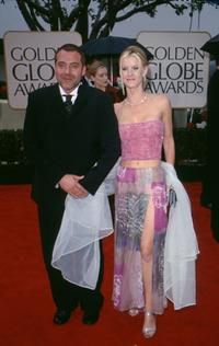 Tom Sizemore and his date at the 57th Annual Golden Globe Awards.