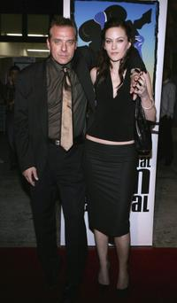 Tom Sizemore and Resmine Atis at the premiere of