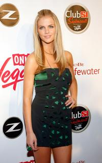 Brooklyn Decker at the launch party for the 2009 Sports Illustrated Swimsuit Issue.
