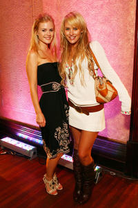 Pippa Black and Nicky Whelan at the David Jones Autumn/Winter Collection launch show.