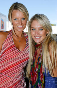Simone Warne and  Nicky Whelan at the Garnier Girl's Day Breakfast during the day four of the Australian Open.