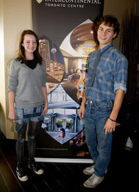Dakota Blue Richards and Augustus Prew at the 2008 Toronto DPA Gifting Lounge in Canada.