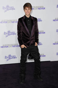 Justin Bieber at the California premiere of