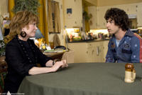 Marie Powell (Sissy Spacek) has a heart-to-heart with her daredevil son Rod Kimble (Andy Samberg) in