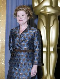 Imelda Staunton at the Academy Awards nominees luncheon.
