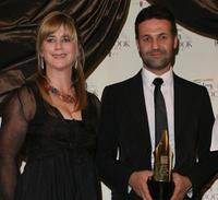 Imogen Stubbs and Khaled Hosseini at the Galaxy British Book Awards.