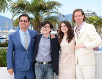 Director Wes Anderson, Kara Hayward, Jared Gilman and Roman Coppola at the