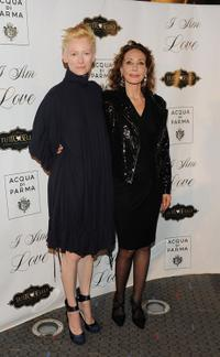 Tilda Swinton and Marisa Berenson at the New York premiere of